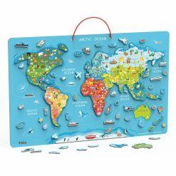 Tablica z Magnetyczną Mapą Świata