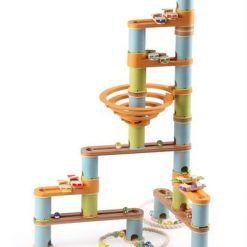 Bambusowy kulodrom/tor kulkowy pastel 98 elem. z melodią Bamboo Planet Geo Kids/Navir/DAM