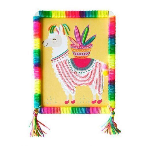 Zestaw artystyczny Lama i pompony