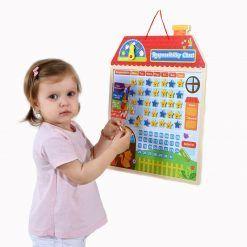 Drewniana Tabela Odpowiedzialności Zachowania Kalendarz