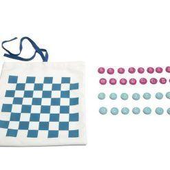 Podróżna gra 3w1 - warcaby, szachy, kółko i krzyżyk